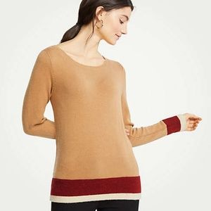 New Ann Taylor Women's Petite Colorblock Sweater